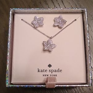 NEW Kate Spade Blooming Pave Earring & Necklace
